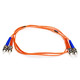 Product image for Fiber Optic Cable, ST/ST, Multi Mode, Duplex -  1 meter (62.5/125 Type)