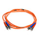 Product image for Fiber Optic Cable, ST/ST, Multi Mode, Duplex -  2 meter (62.5/125 Type)