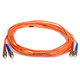 Product image for Fiber Optic Cable, ST/ST, Multi Mode, Duplex -  5 meter (62.5/125 Type)