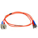 Product image for Fiber Optic Cable, ST/SC, Multi Mode, Duplex -  1 meter (62.5/125 Type)