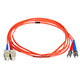 Product image for Fiber Optic Cable, ST/SC, Multi Mode, Duplex -  2 meter (62.5/125 Type)