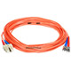 Product image for Fiber Optic Cable, ST/SC, Multi Mode, Duplex - 10 meter (62.5/125 Type)