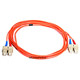 Product image for Fiber Optic Cable, SC/SC, Multi Mode, Duplex -  2 meter (62.5/125 Type)