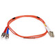 Product image for Fiber Optic Cable, LC/ST, Multi Mode, Duplex -  1 meter (62.5/125 Type)