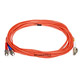 Product image for Fiber Optic Cable, LC/ST, Multi Mode, Duplex -  5 meter (62.5/125 Type)