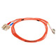 Product image for Fiber Optic Cable, LC/SC, Multi Mode, Duplex -  2 meter (62.5/125 Type)