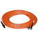 Product image for MTRJ (Female)-ST/PC, MM, Duplex, 62.5/125, 1.8MM DIA. 10 Meter-(Patch Cord/Jumper)