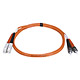 Product image for SC/PC-ST/PC, MM, Duplex, 62.5/125, 3.0MM DIA. 1 Meter-(Patch Cord/Jumper)