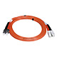 Product image for SC/PC-ST/PC, MM, Duplex, 62.5/125, 3.0MM DIA. 2 Meter-(Patch Cord/Jumper)