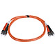 Product image for ST/PC-ST/PC, MM, Duplex, 62.5/125, 3.0MM DIA. 1 Meter-(Patch Cord/Jumper)