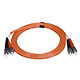 Product image for ST/PC-ST/PC, MM, Duplex, 62.5/125, 3.0MM DIA. 2 Meter-(Patch Cord/Jumper)