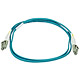 Product image for 10Gb Fiber Optic Cable, LC/LC, Multi Mode, Duplex -  1 Meter (50/125 Type) - Aqua