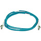 Product image for 10Gb Fiber Optic Cable, LC/LC, Multi Mode, Duplex -  3 Meter (50/125 Type) - Aqua