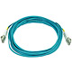 Product image for 10Gb Fiber Optic Cable, LC/LC, Multi Mode, Duplex - 5 Meter (50/125 Type) - Aqua