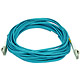 Product image for 10Gb Fiber Optic Cable, LC/LC, Multi Mode, Duplex - 10 Meter (50/125 Type) - Aqua