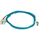Product image for 10Gb Fiber Optic Cable, LC/SC, Multi Mode, Duplex - 2 Meter (50/125 Type) - Aqua