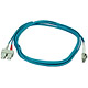 Product image for 10Gb Fiber Optic Cable, LC/SC, Multi Mode, Duplex - 3 Meter (50/125 Type) - Aqua