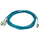 Product image for 10Gb Fiber Optic Cable, LC/SC, Multi Mode, Duplex - 5 Meter (50/125 Type) - Aqua