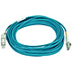 Product image for 10Gb Fiber Optic Cable, LC/SC, Multi Mode, Duplex - 10 Meter (50/125 Type) - Aqua