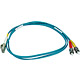 Product image for 10Gb Fiber Optic Cable, LC/ST, Multi Mode, Duplex - 1 Meter (50/125 Type) - Aqua