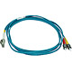 Product image for 10Gb Fiber Optic Cable, LC/ST, Multi Mode, Duplex - 2 Meter (50/125 Type) - Aqua