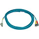 Product image for 10Gb Fiber Optic Cable, LC/ST, Multi Mode, Duplex - 5 Meter (50/125 Type) - Aqua