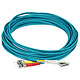 Product image for 10Gb Fiber Optic Cable, LC/ST, Multi Mode, Duplex - 10 Meter (50/125 Type) - Aqua