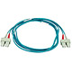 Product image for 10Gb Fiber Optic Cable, SC/SC, Multi Mode, Duplex - 2 Meter (50/125 Type) - Aqua