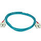 Product image for 10Gb Fiber Optic Cable, SC/SC, Multi Mode, Duplex - 3 Meter (50/125 Type) - Aqua