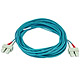 Product image for 10Gb Fiber Optic Cable, SC/SC, Multi Mode, Duplex - 10 Meter (50/125 Type) - Aqua